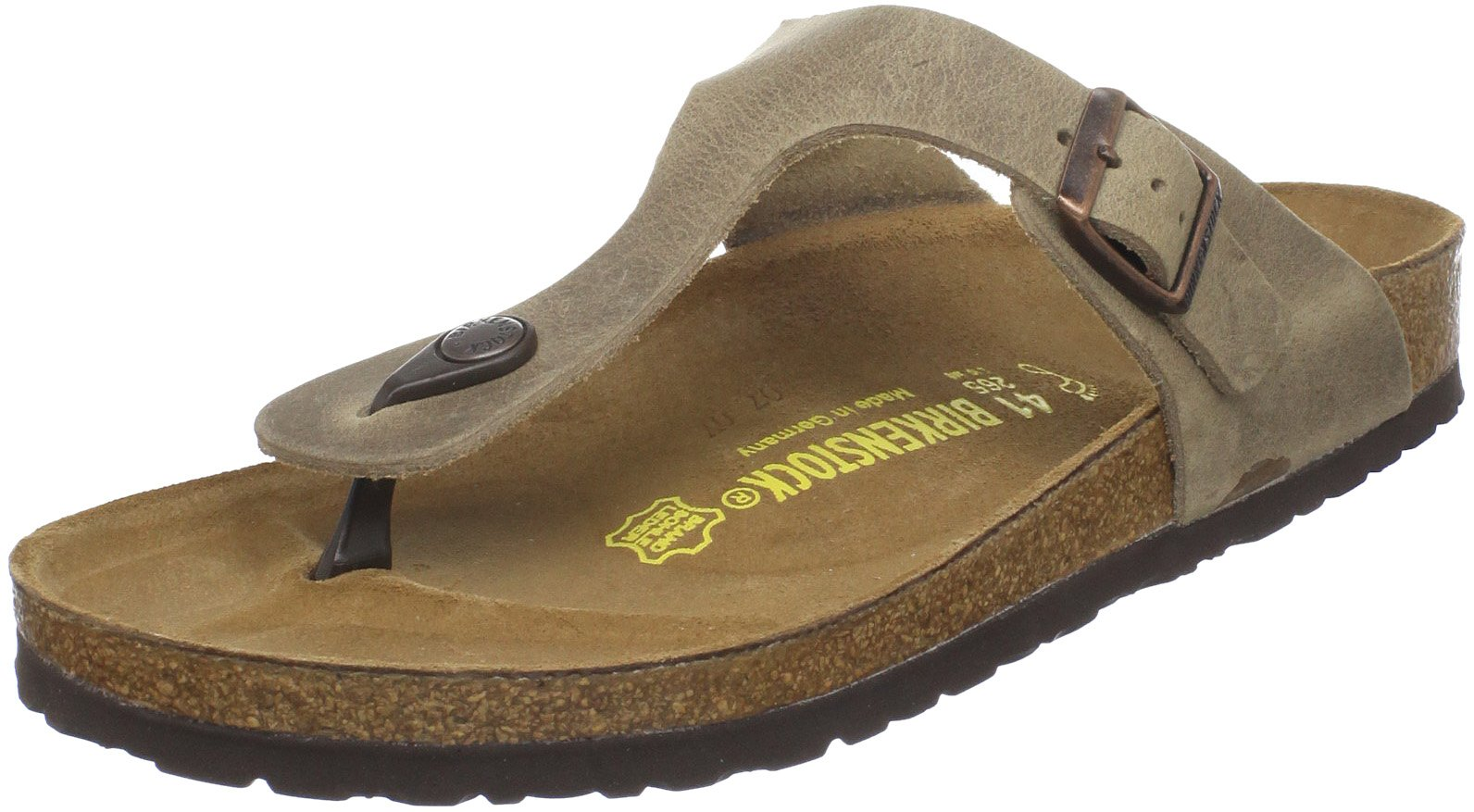 Birkenstock Women's GIzeh Thong Sandal, Tobacco Brown Leather, 38 M EU/7-7.5 B(M) US