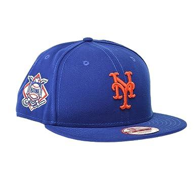 e581fe759e0 New Era New York Mets MLB Premium Authentic 9FIFTY Strapback Cap Royal  Blue Orange ne