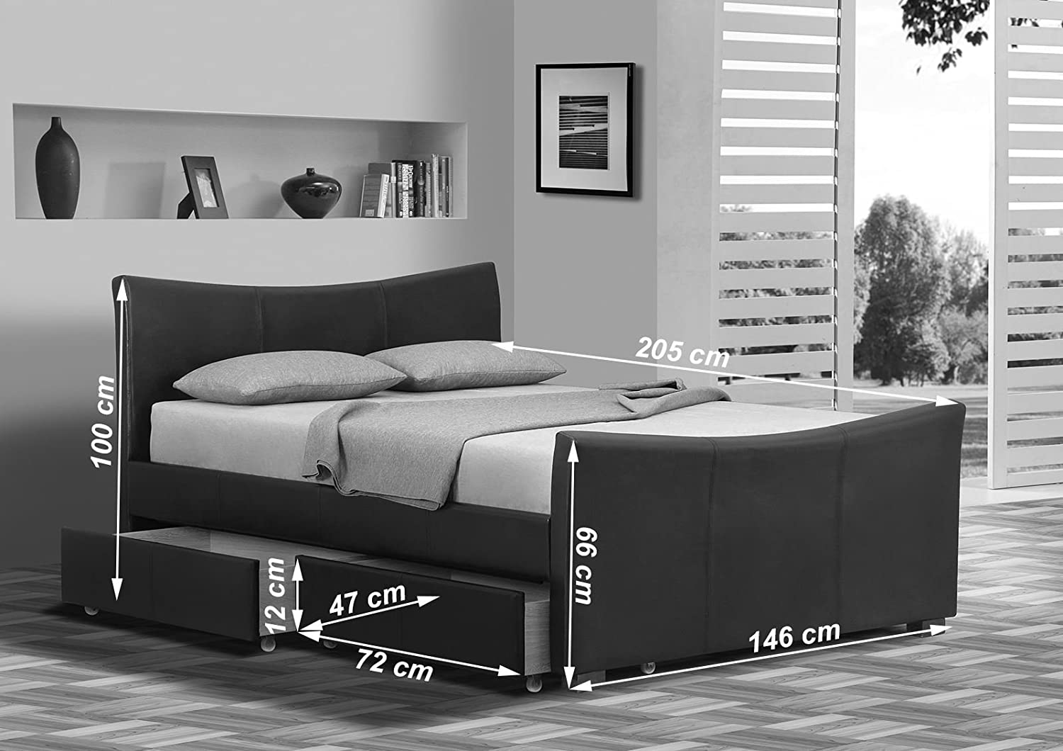 MODERN FURNITURE DIRECT Turin Bettgestell Doppelbett Oder 5 ft ...