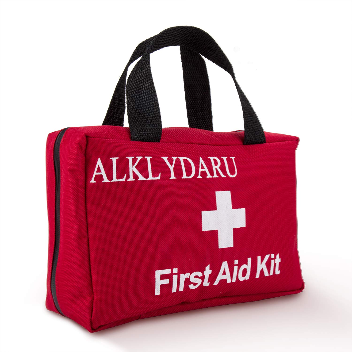 ALKLYDARU Small First Aid Kit, Using Waterproof Polyester, Waterproof Zipper and Long Band Aid, is Suitable for Cars, Home, Camping, Hiking, Office, Cycling and Hunting.