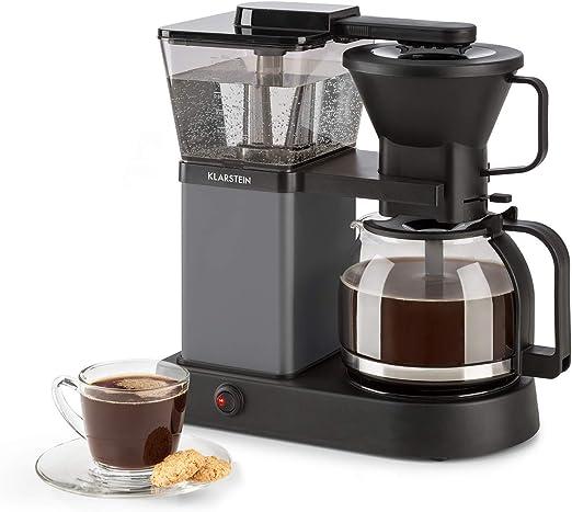 Klarstein GrandeGusto Máquina de café con jarra - Máquina de café con filtro, Cafetera, 1690 W, Depósito de 1,3 litros, Hasta 10 tazas, Calienta hasta 96°C, Conserva el calor, Negro: Amazon.es: Hogar