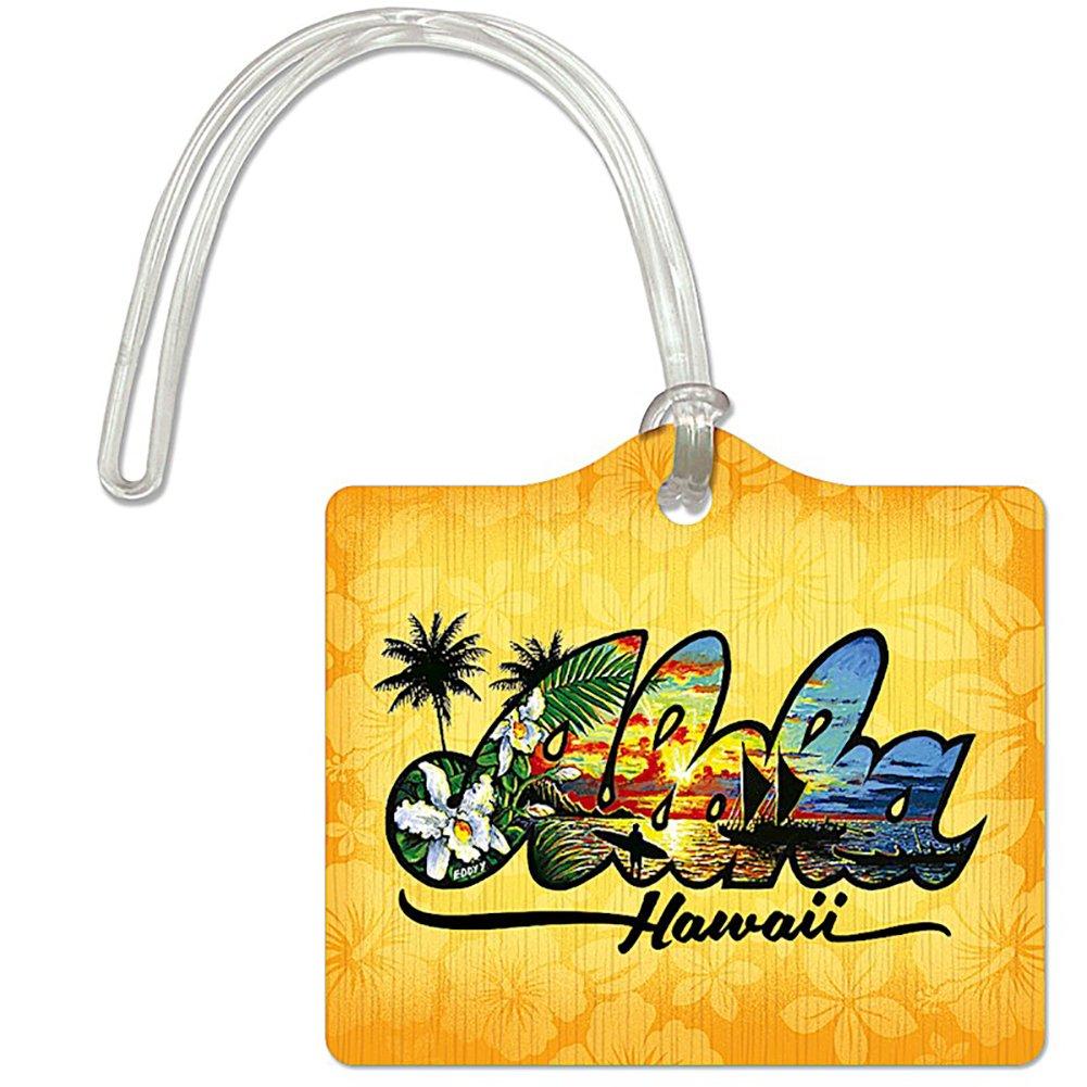 Die Cut ID荷物タグAloha Hawaii by Eddy Y   B06XXCJJR4