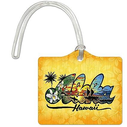 ec53163b2dc2 Amazon.com: Welcome to the Islands Die Cut ID Luggage Tag Aloha ...
