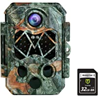 TIDEWE Trail Camera with 32GB SD Card, 32MP 4K Hunting Camera with 0.2s Trigger 3 PIR, 120° Range Night Vision 45 LEDs…