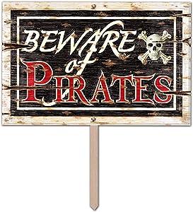 Beware Of Pirates 3-D Art-Form Yard Sign