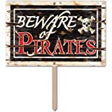 Beware Of Pirates 3-D Art-Form Yard Sign