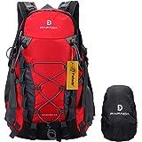 Fafada 40L Impermeabile Zaini da Escursionismo Zaino di Campeggio Viaggi Hiking Trekking Camping Backpack Rosso
