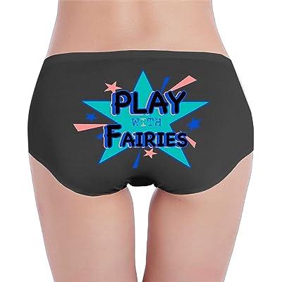 HEYUHUI Women Play with Fairies Ride A Unicore Brief Panties Women Bikini Briefs Women Cotton Brief Panties Women's Stretch Brief Panties