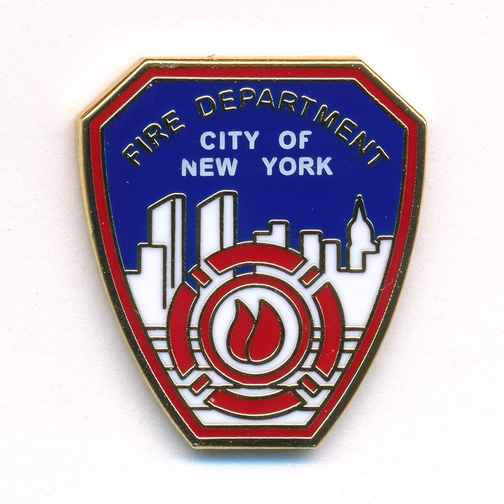 Fire Department New York FDNY Badge Emblem Firefighter Pin Badge 0088 Import / Hegerring