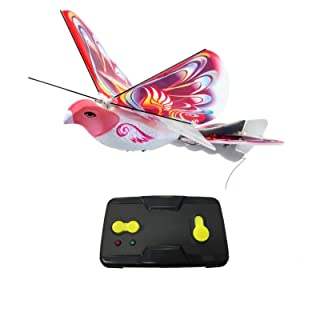 MukikiM eBird Pink Butterfly - 2016 Creative Child Preferred Choice Award Winning Flying RC Toy - Remote Control Bionic Bird (Newest 2.4GHz Version Featuring USB Charging)