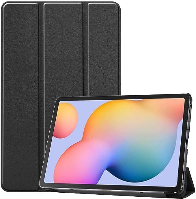 Imagen dePkila Funda Carcasa para Samsung Galaxy S6 Lite 10.4, Slim PU Protectora Carcasa Cover para Samsung Galaxy S6 Lite 10.4 Pulgadas 2020, Negro