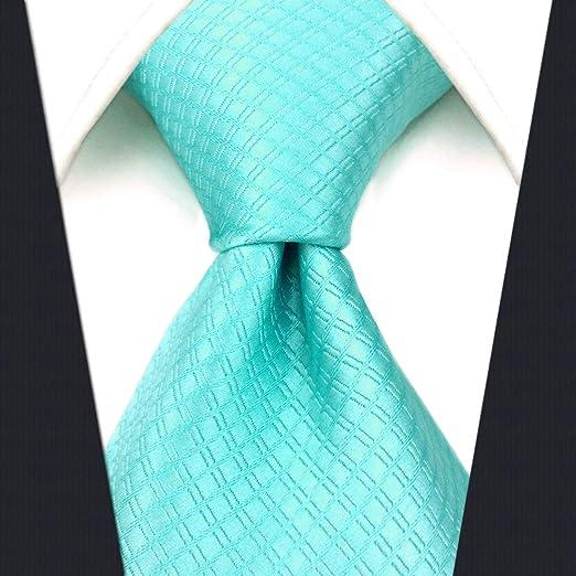 shlax&wing Nuevo único Hombre Seda Corbatas Para Türkis Color ...