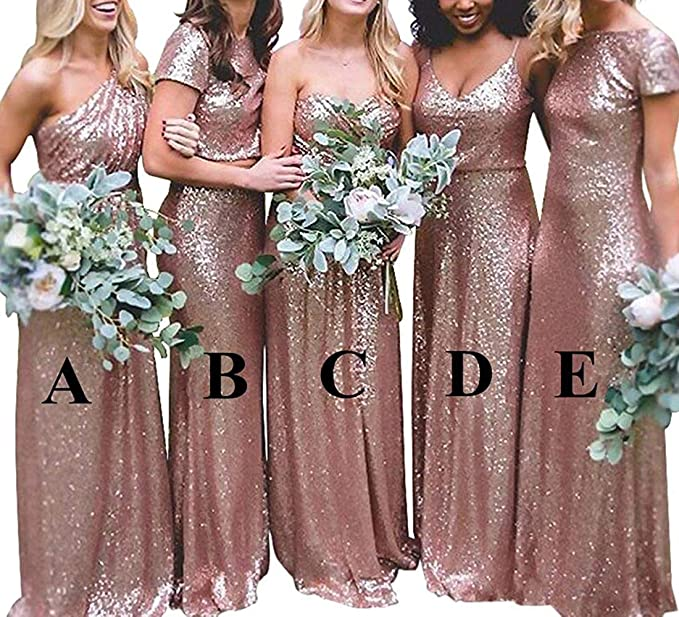 Solovedress Women S Long Evening Prom Dress Bridesmaid Sequined Maid Of Honor Dress