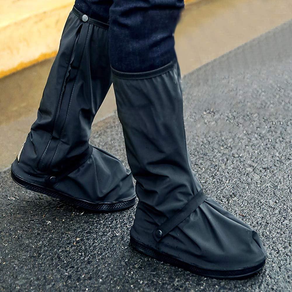 KK moon Overshoes Rain 10.4in Rain Boot Shoe Covers Non-slip Windproof Waterproof with Reflector S