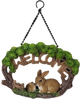 Vivid Arts Hanging Hedgehog Welcome Log Hanging Home Ornament