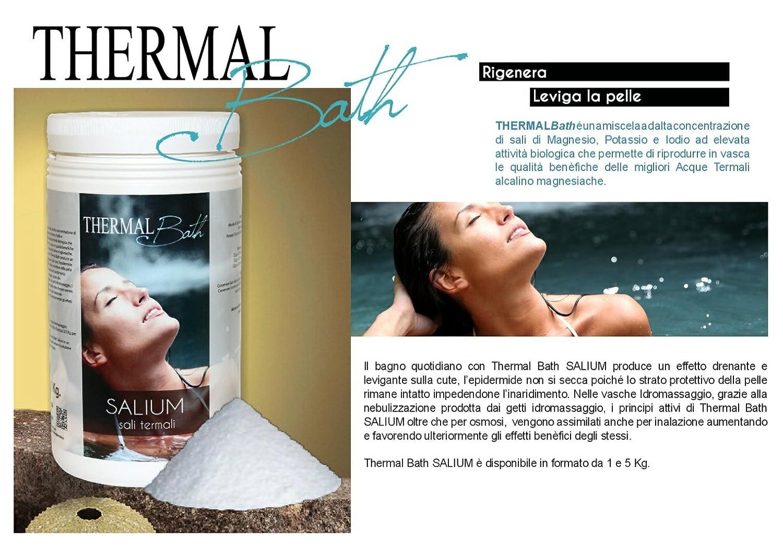 Sales termales para Spa, Jacuzzi y Piscina.Thermal Bath salium 5 kg. Producto Ideal para piscina y Spa Jacuzzi de cualquier marca (Jacuzzi, Teuco, Dimhora, ...