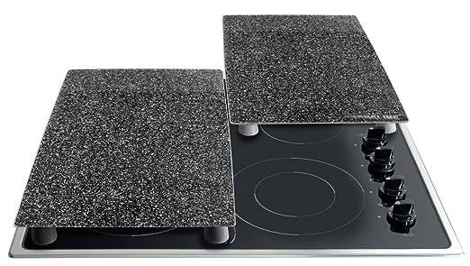 Stoneline - Cubiertas protectoras para los fogones y la vitrocerámica (2 unidades, tablas de cristal)