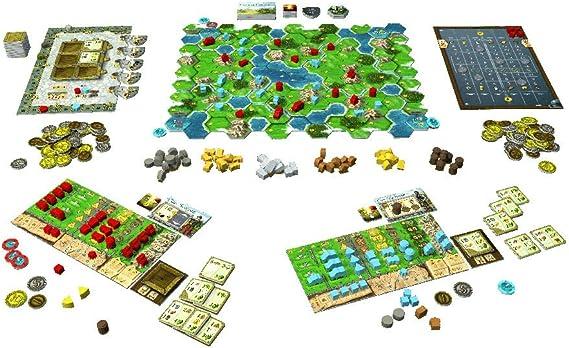 Karma Games KAR38205 Clans of Caledonia - Juego de Mesa: Amazon.es: Juguetes y juegos