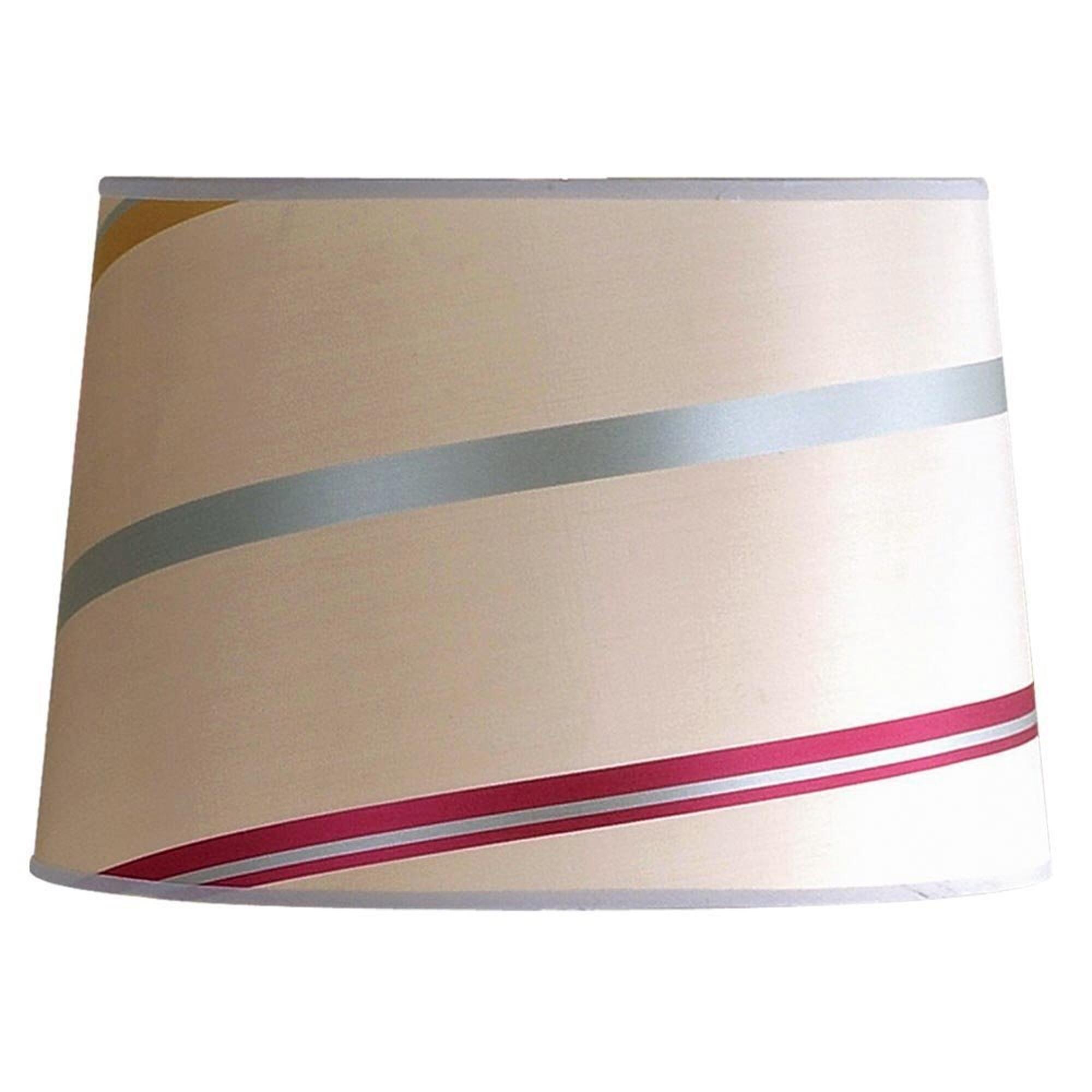 Laura Ashley SLB24114 Juliette 14-Inch Striped Drum Shade