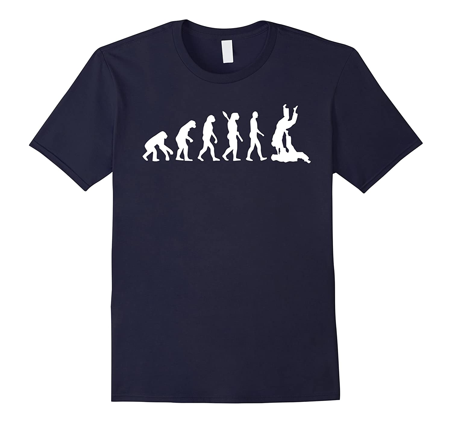 Brazilian Jiu Jitsu T-Shirt - BJJ Evolution Judo Throw Tee-T-Shirt