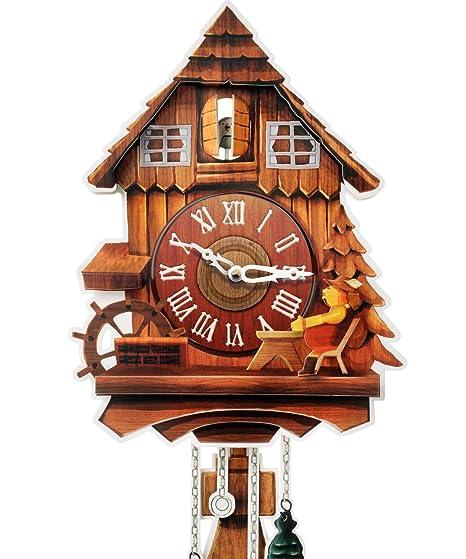 Kult AG cartón Reloj XL – Cuco Reloj Modern de cartón con 2 Naturales Tonos (