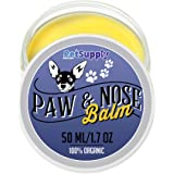 Dog Paw Balm - 100% Natural Paw Protection and Treatment Wax for Cracked Paw Pads - Organic Cream Moisturizer and Soother Heal Pet Paws - Winter and Snow Protector
