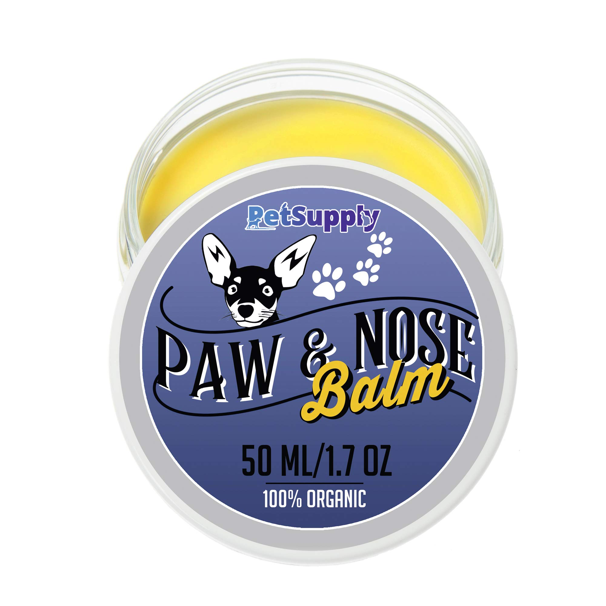 PetSupply Dog Paw Balm – Natural Dog Paw Protection and Paw Soother for Dry and Cracked Paw Pads