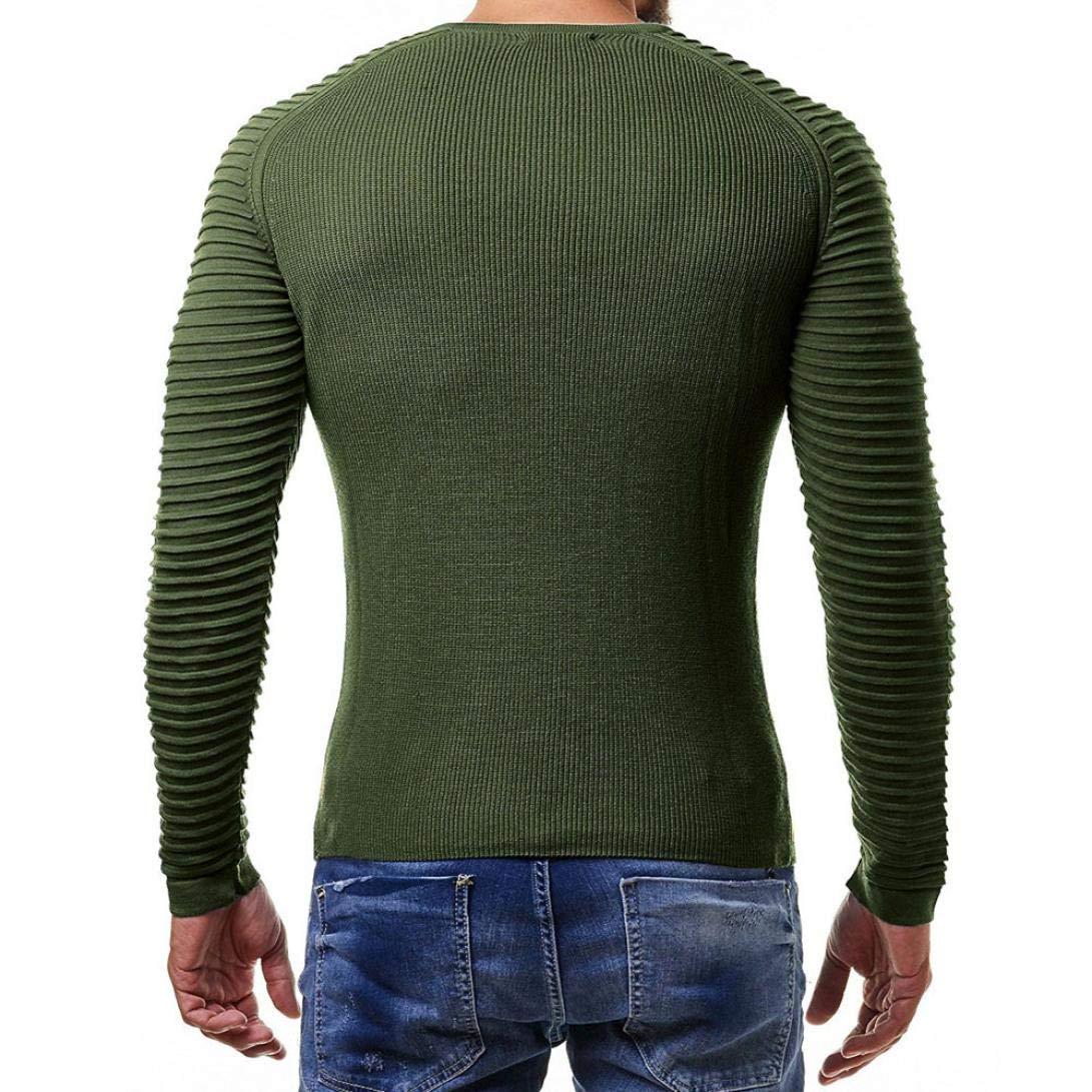 Manica Lunga Girocollo T Shirt Muscolo Stampa Camicetta Slim Fit Maglietta da Uomo Camicie da Uomini Tees Tops Piega Barra Verticale Polo CLOOM Maglietta Uomo Elegante