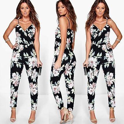 ❤ Mono Clubwear Bodycon Mujeres,Pantalones de Traje de Fiesta Floral Playsuit de Mujer Absolute: Amazon.es: Ropa y accesorios