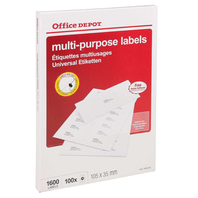 A4/etiquetas de direcci/ón adhesivas para hojas impresora laser Copiadora Inkjet Peel 200 Sheets color multicolor Multi-Purpose Label Size:/16 labels