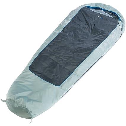 skandika Nevada - Saco Dormir Tipo Momia - 230x80cm - Gris - Bolsa compresión - acoplable