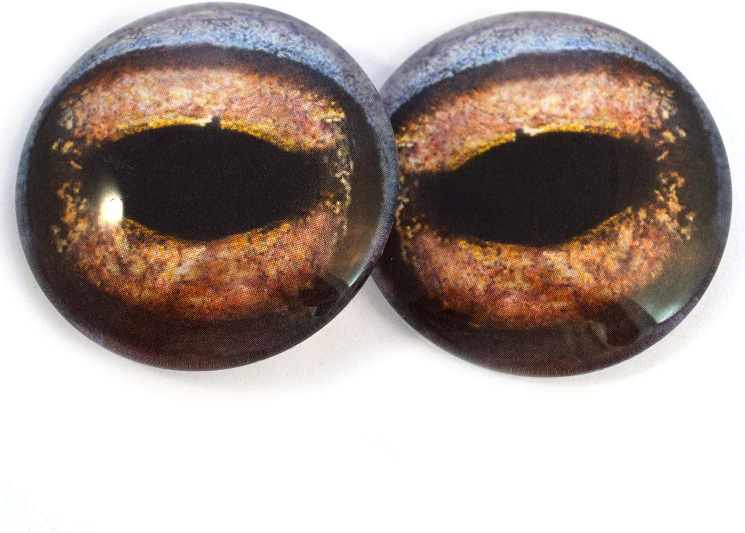 10mm Brown Toad Frog Glass Taxidermy Eyes Animal Realistic Jewelry Art Supplies