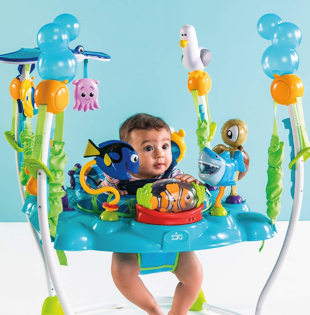 744d6e882ef2 Amazon.com   Disney Baby Finding Nemo Sea of Activities Jumper   Baby
