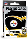 "MasterPieces NFL Pittsburgh Steelers Playing Cards,Black,4"" X 0.75"" X 2.625"""