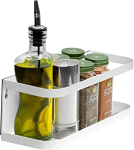 Sorbus Magnet Spice Rack Organizer for Fridge, Heavy Duty Magnetic Refrigerator Shelf Spice Storage, Great for Storing Spices, Household Items and More (White)