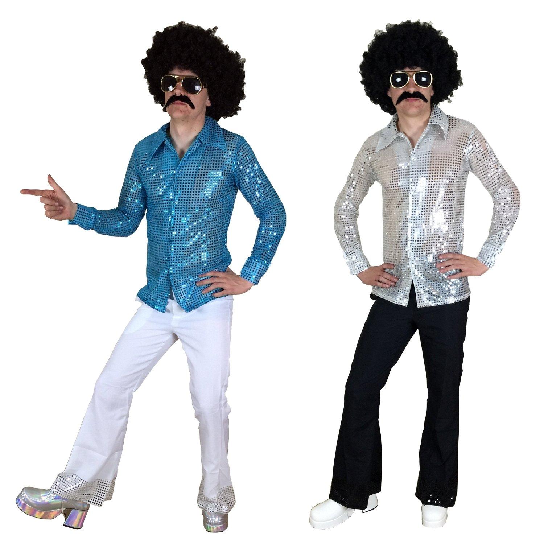 70s 80s Men\'s Fancy Dress shirt & flares Suit Outfit for DISCO ...
