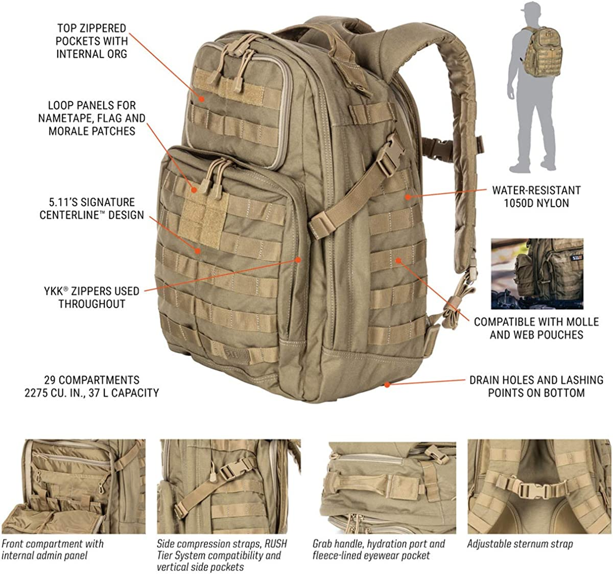 5.11 Tactical Series Rush 24