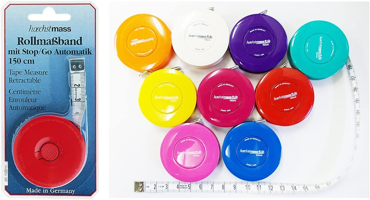 Sewing Quilting etc by Hoechstmass Hobby 60-Inch//150-Centimeter Retracable Tape Measure: Great for Tailors