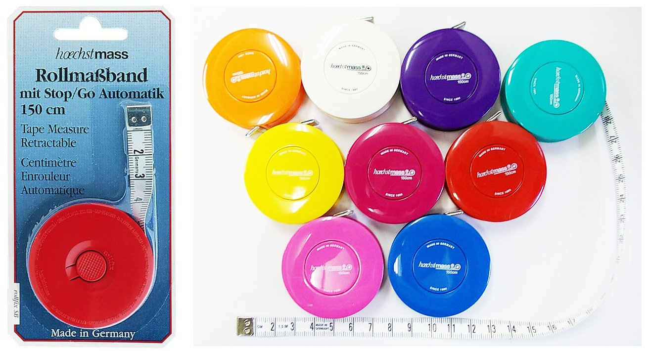 60-Inch/150-Centimeter Retracable Tape Measure: Great for Tailors, Sewing, Hobby, Quilting, etc