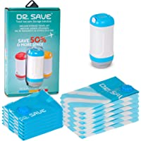 Dr. Save - Sacs de rangement sous vide avec valve anti-retour et pompe électrique - Pour plus d'espace dans votre valise