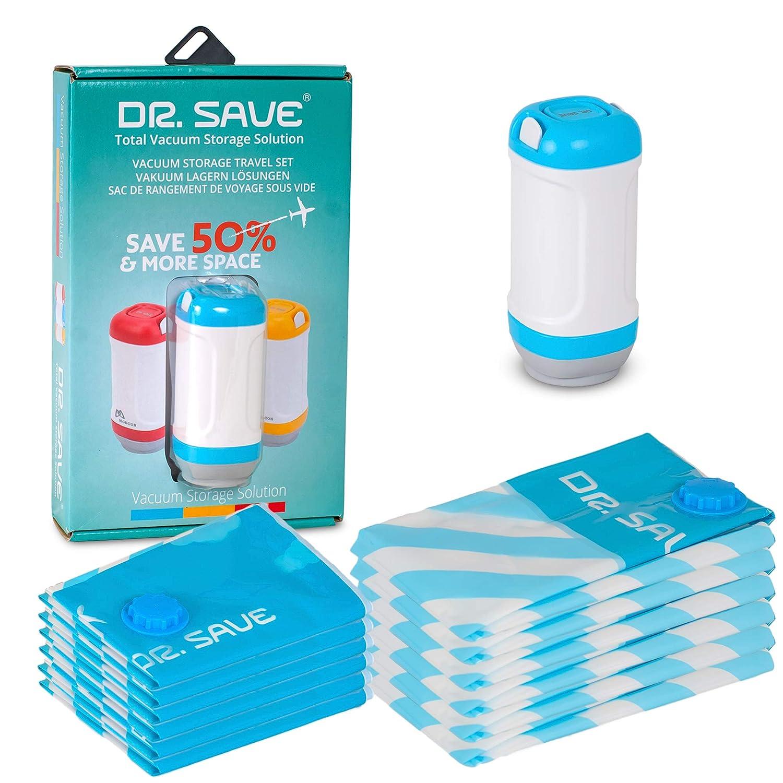 Dr platzsparender Reisetaschen Kompressen mit Einer elektrischen Pumpe Save Vakuumbeutel mit Versiegelungsger/ät Packen Sie mehr in Ihren Koffer mit luftdichter