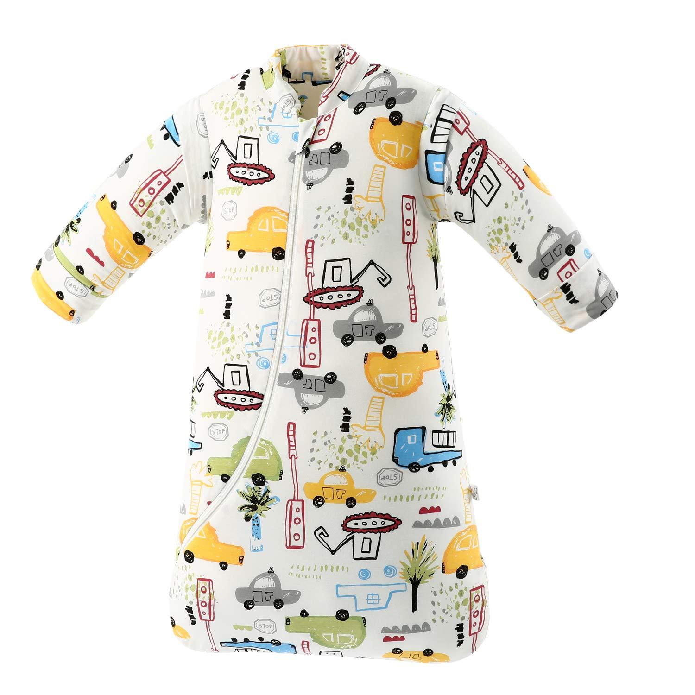 Baby Winter schlafsack Kinder schlafsack 3.5 Tog Schlafsaecke aus Bio Baumwolle Verschiedene Groessen von Geburt bis 4 Jahre alt S//3-6Monate, Gr/ünerwald