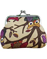 Coromose Women Lovely Style Lady Small Wallet Hasp Owl Purse Clutch Bag
