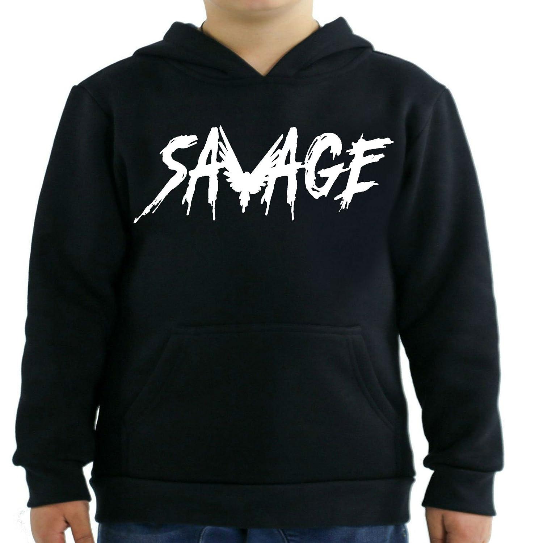 fresh tees Savage Maverick Logan Paul Kids Hoodie