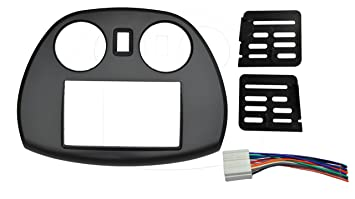 com radio stereo double din dash install kit mount trim radio stereo double 2 din dash install kit mount trim bezel w wiring harness and