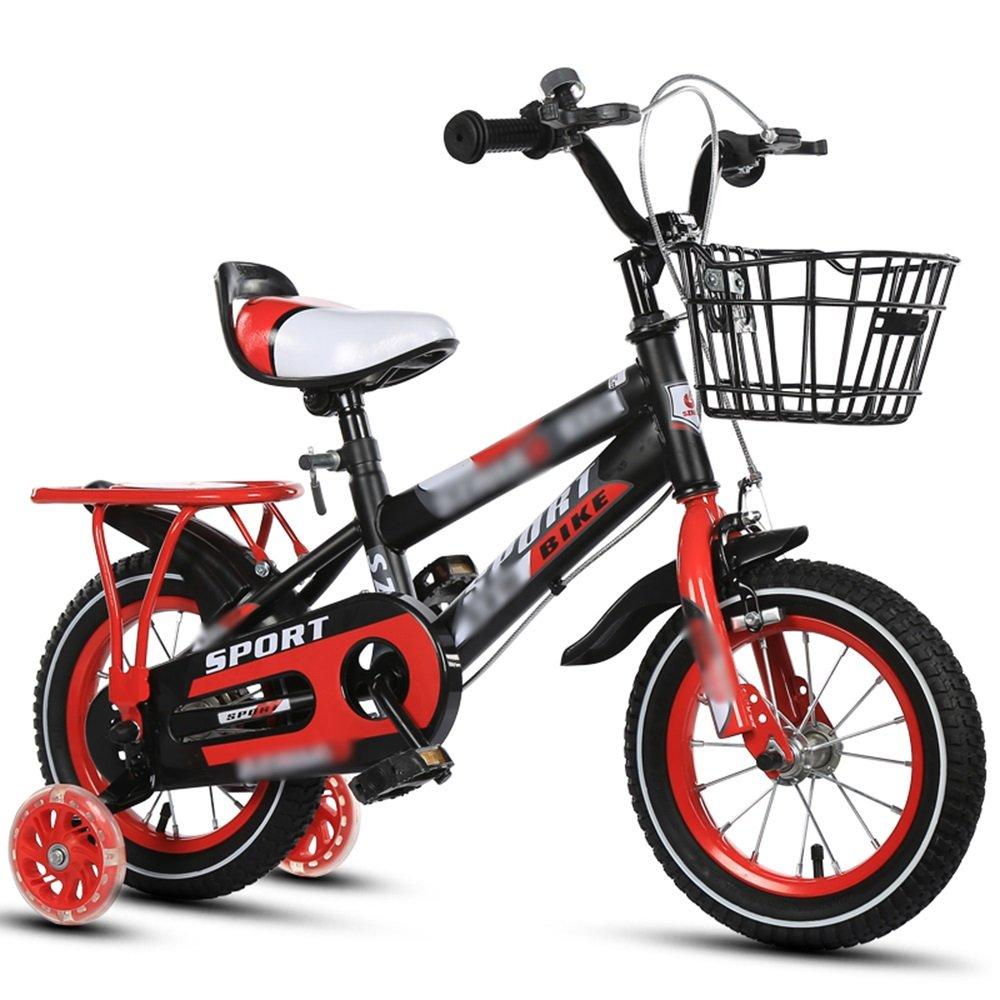 HAIZHEN マウンテンバイク 子供用自転車12インチ14インチ16インチ18インチオレンジレッドブルーハンドルバーシートの高さ調節可能 新生児 B07CG338DH赤 12 inch