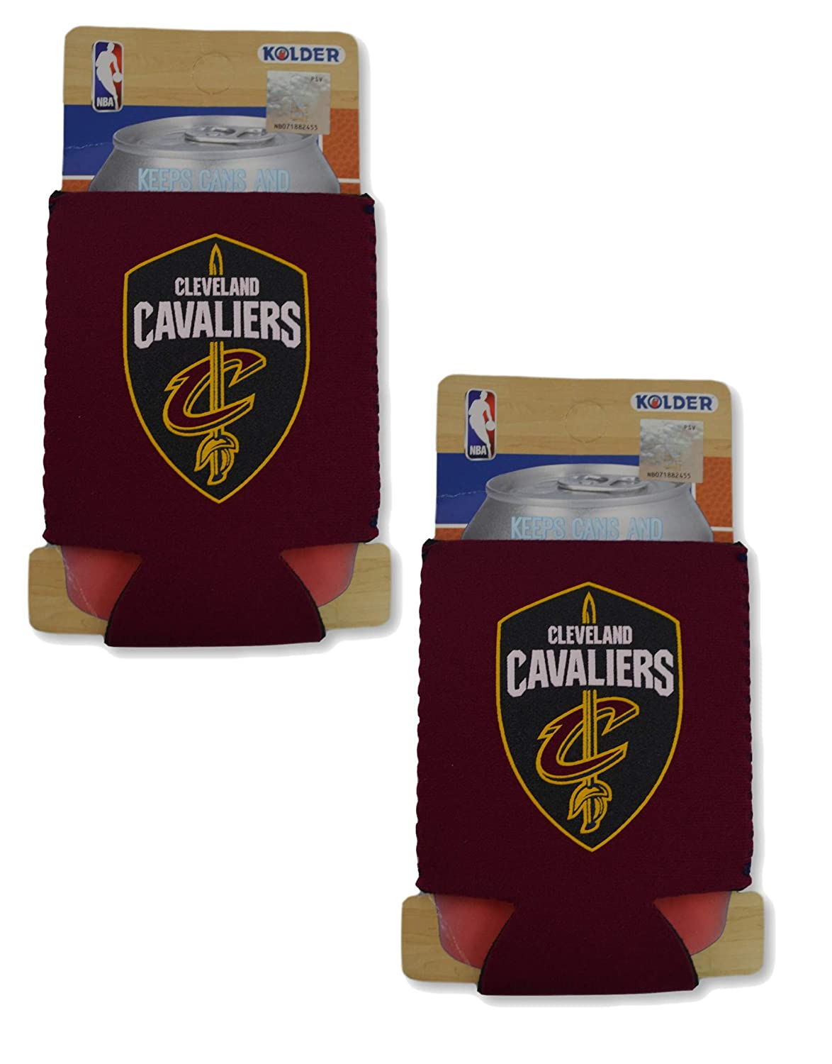 NBAファンショップAuthentic 2 - Pack Insulated 12 oz Cold Can Cooler /ホルダー。Showチームプライド自宅で、Tailgatingやゲームで。GREAT forファン  クリーブランドキャバリアーズ B06XH6PGV7