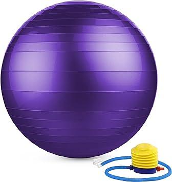 MoKo Pelota Pilates de 65cm, Balones de tonificación Extra Grueso ...