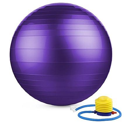 MoKo Pelota Pilates de 55/65cm,Extra Grueso Equipo Deportivo Antichoque para Yoga, Pilates, Gimnasio ect