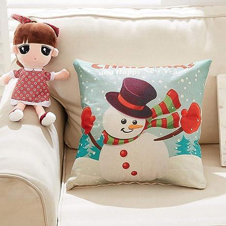 W&HH SHOP Merry Christmas Pillow Cojín de Felpa súper Suave ...